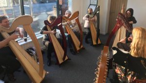 Harp taster session with Shelley Fairplay, January 2018